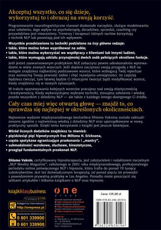 Tył okładki książki/ebooka Biblia NLP. Wydanie rozszerzone, ponad 350 wzorców, metod i strategii programowania neurolingwistycznego