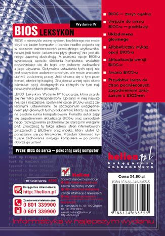 Tył okładki książki/ebooka BIOS. Leksykon. Wydanie IV