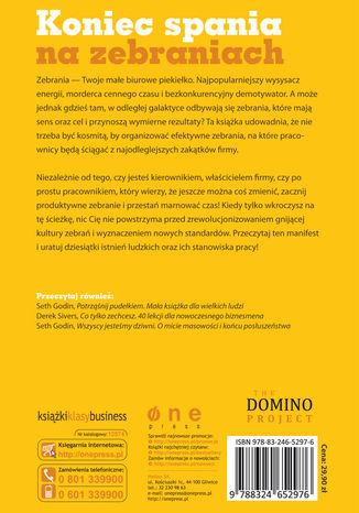 Tył okładki książki/ebooka Biurowa rewolucja, czyli sztuka organizowania efektywnych zebrań