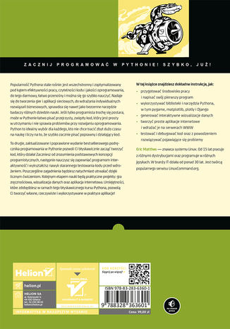 Tył okładki książki/ebooka Python. Instrukcje dla programisty. Wydanie II