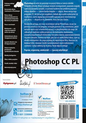 Tył okładki książki/ebooka Photoshop CC PL. Szkoła efektu
