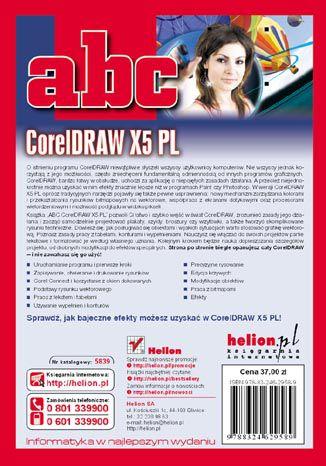 Tył okładki książki/ebooka ABC CorelDRAW X5 PL