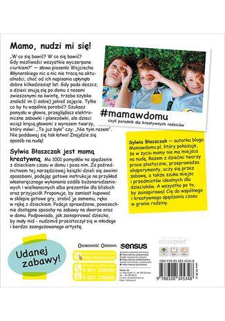 Tył okładki książki/ebooka #mamawdomu, czyli poradnik dla kreatywnych rodziców
