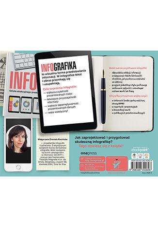 Tył okładki książki/ebooka Infografiki. Sztuka atrakcyjnego prezentowania treści