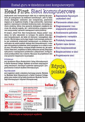 Tył okładki książki Head First. Sieci komputerowe. Edycja polska