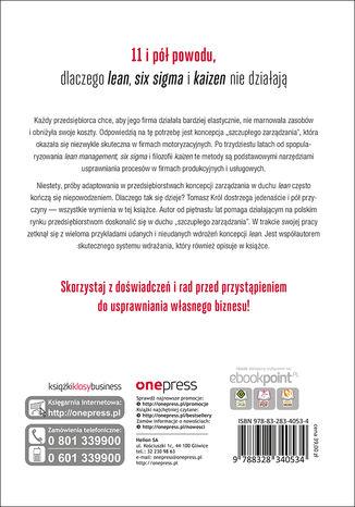 Tył okładki książki/ebooka Lean management po polsku. O dobrych i złych praktykach