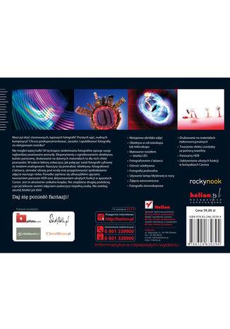 Tył okładki książki/ebooka Szalona strona fotografii. Niekonwencjonalne i twórcze techniki dla odważnych fotografów