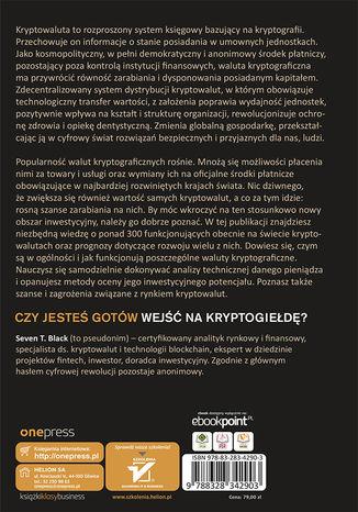 Tył okładki książki/ebooka Biblia kryptowalut