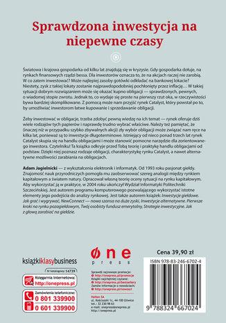 Tył okładki książki/ebooka Catalyst - odkryj rynek obligacji