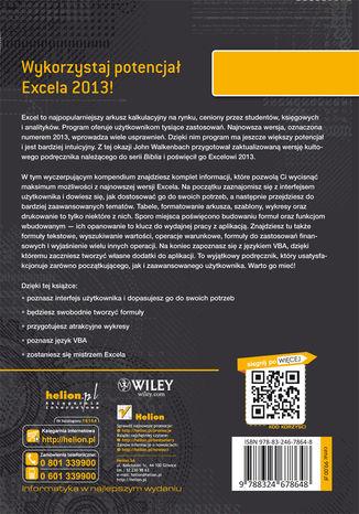 Tył okładki książki/ebooka Excel 2013 PL. Biblia