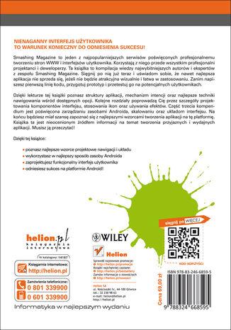 Tył okładki książki/ebooka Android UI. Podręcznik dla projektantów. Smashing Magazine