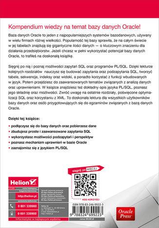 Tył okładki książki Oracle Database 12c i SQL. Programowanie