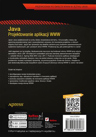 Tył okładki książki Java. Projektowanie aplikacji WWW