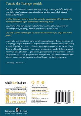 Tył okładki książki/ebooka Psychologia dostatku, czyli jak się buduje finansową prosperity