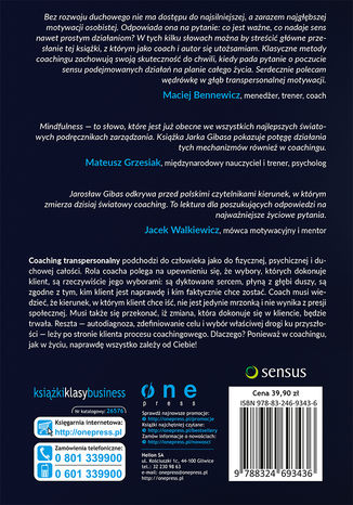 Tył okładki książki/ebooka Życie. Następny poziom. Coaching transpersonalny