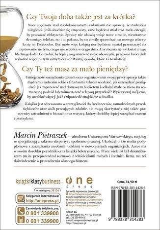 Tył okładki książki/ebooka Czas to pieniądz. Jak oszczędzać czas i pieniądze?