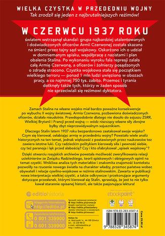 Tył okładki książki/ebooka Czystka Stalina w Armii Czerwonej. Początki wielkiego terroru