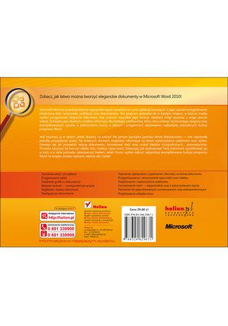 Tył okładki książki/ebooka Microsoft Word 2010 PL. Praktyczne podejście