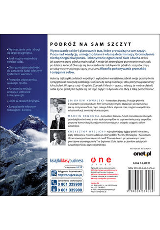 Tył okładki książki/ebooka Mount everest biznesu