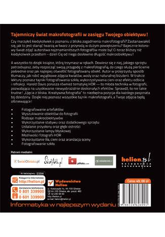 Tył okładki książki/ebooka Ujęcia z bliska. Kreatywna fotografia