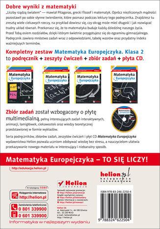 Tył okładki książki/ebooka Matematyka Europejczyka. Podręcznik dla gimnazjum. Klasa 2