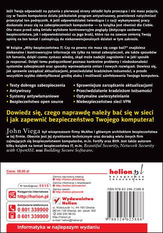 Tył okładki książki/ebooka Mity bezpieczeństwa IT. Czy na pewno nie masz się czego bać?