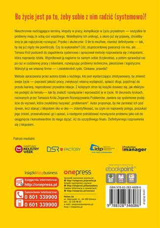 Tył okładki książki/ebooka Zegar Rozwiązywania Problemów
