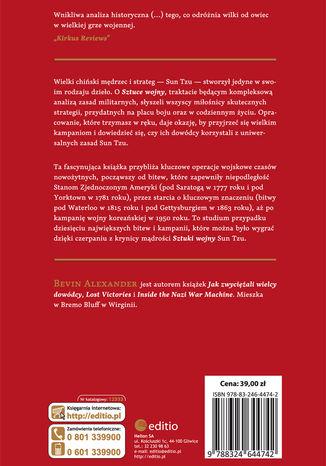 Tył okładki książki/ebooka Sun Tzu pod Gettysburgiem. Ponadczasowe mądrości sztuki wojennej