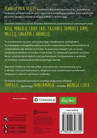 Tył okładki książki/ebooka Kotlet na wynos, czyli autostopem za równik
