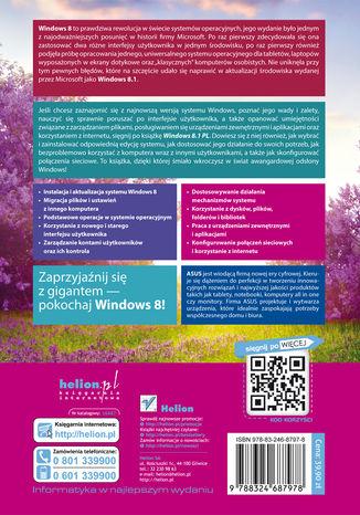 Tył okładki książki/ebooka Windows 8.1 PL