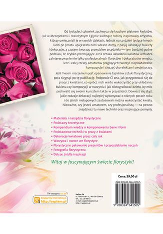 Tył okładki książki/ebooka Świat florystyki. Sztuka układania i fotografowania kwiatów