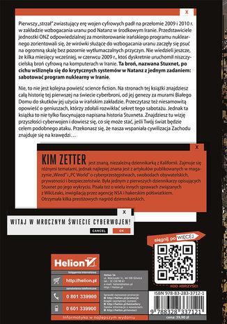 Tył okładki książki/ebooka Odliczając do dnia zero. Stuxnet, czyli prawdziwa historia cyfrowej broni