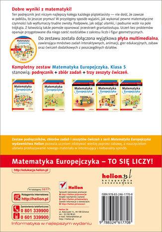 Tył okładki książki/ebooka Matematyka Europejczyka. Podręcznik dla szkoły podstawowej. Klasa 5