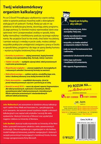 Tył okładki książki/ebooka Excel 2010 PL. Ćwiczenia praktyczne dla bystrzaków