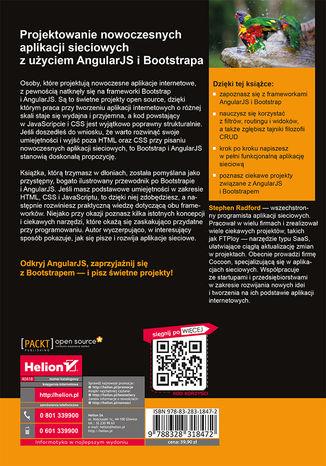 Tył okładki książki/ebooka Projektowanie nowoczesnych aplikacji sieciowych z użyciem AngularJS i Bootstrapa