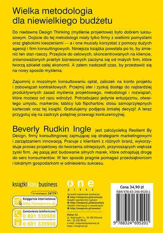 Tył okładki książki/ebooka Design Thinking dla przedsiębiorców i małych firm. Potęga myślenia projektowego w codziennej pracy