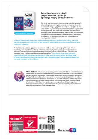 Tył okładki książki/ebooka UXUI. Design Zoptymalizowany. Workshop Book