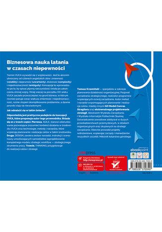 Tył okładki książki/ebooka Wykorzystaj siłę design thinking! Przygotuj zespół do realizacji celów w środowisku VUCA