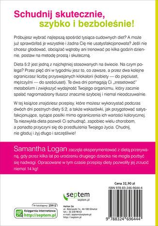 Tył okładki książki/ebooka Dieta 5:2. 150 prostych przepisów na posiłki poniżej 300 kcal, które pozwolą Ci schudnąć