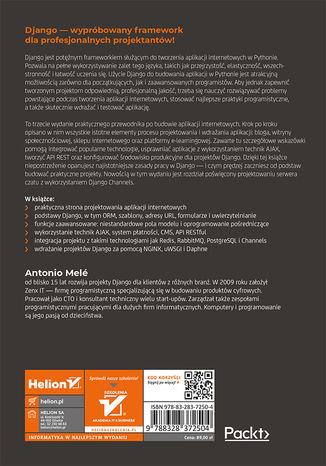Tył okładki książki/ebooka Django 3. Praktyczne tworzenie aplikacji sieciowych. Wydanie III
