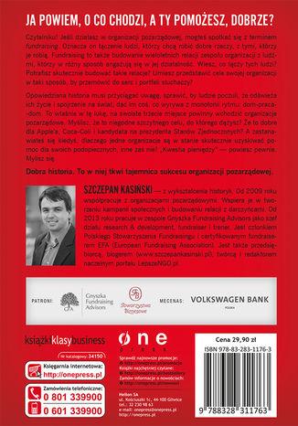 Tył okładki książki/ebooka Szlachetny cel. Jak opowiadać historie, które przyniosą darowizny