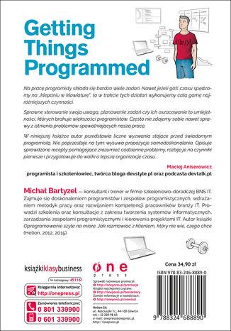 Tył okładki książki/ebooka Getting Things Programmed. Droga do efektywności