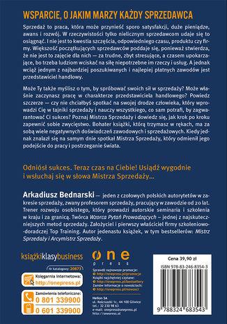 Tył okładki książki/ebooka Rozmowy z Mistrzem Sprzedaży