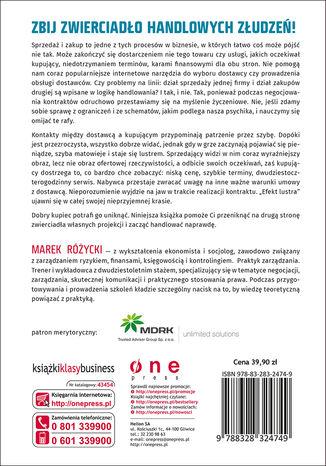 Tył okładki książki/ebooka Strategie zakupowe. Jak prowadzić udane negocjacje w łańcuchu dostaw