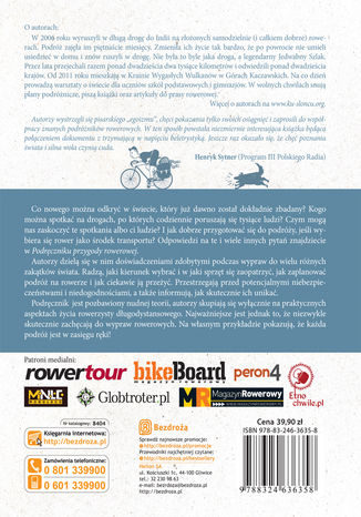 Tył okładki książki/ebooka Podręcznik Przygody Rowerowej