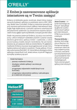 Tył okładki książki/ebooka Ember.js dla webdeveloperów