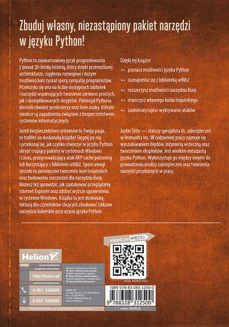 Tył okładki książki/ebooka Black Hat Python. Język Python dla hakerów i pentesterów