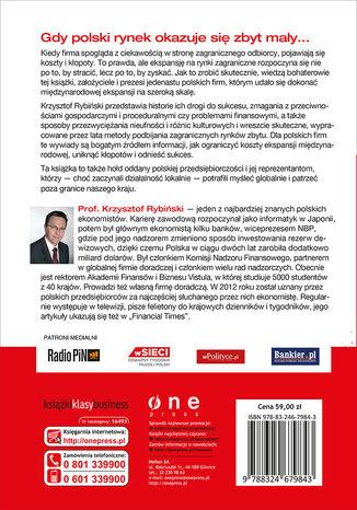 Tył okładki książki/ebooka Go global! Wywiady z twórcami polskich firm, które zdobyły rynki międzynarodowe