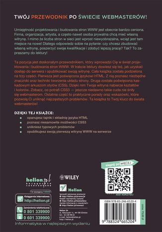 Tył okładki książki HTML i CSS. Zaprojektuj i zbuduj witrynę WWW. Podręcznik Front End Developera
