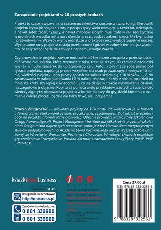 Tył okładki książki/ebooka Zarządzanie projektami dla początkujących. Jak zmienić wyzwanie w proste zadanie
